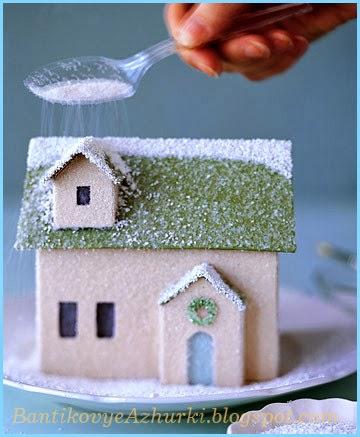 Новогодний домик из картона своими руками новые фото