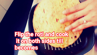 image of flipping roti