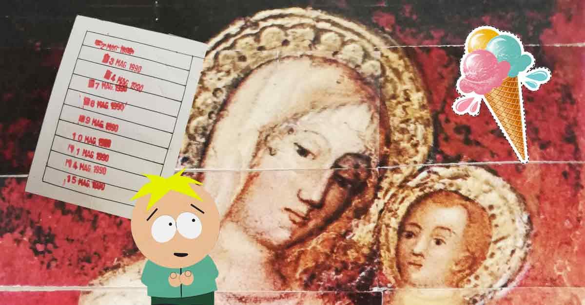 Il fioretto di maggio dedicato a Maria, con punti fedeltà, gelati e Butters di South Park