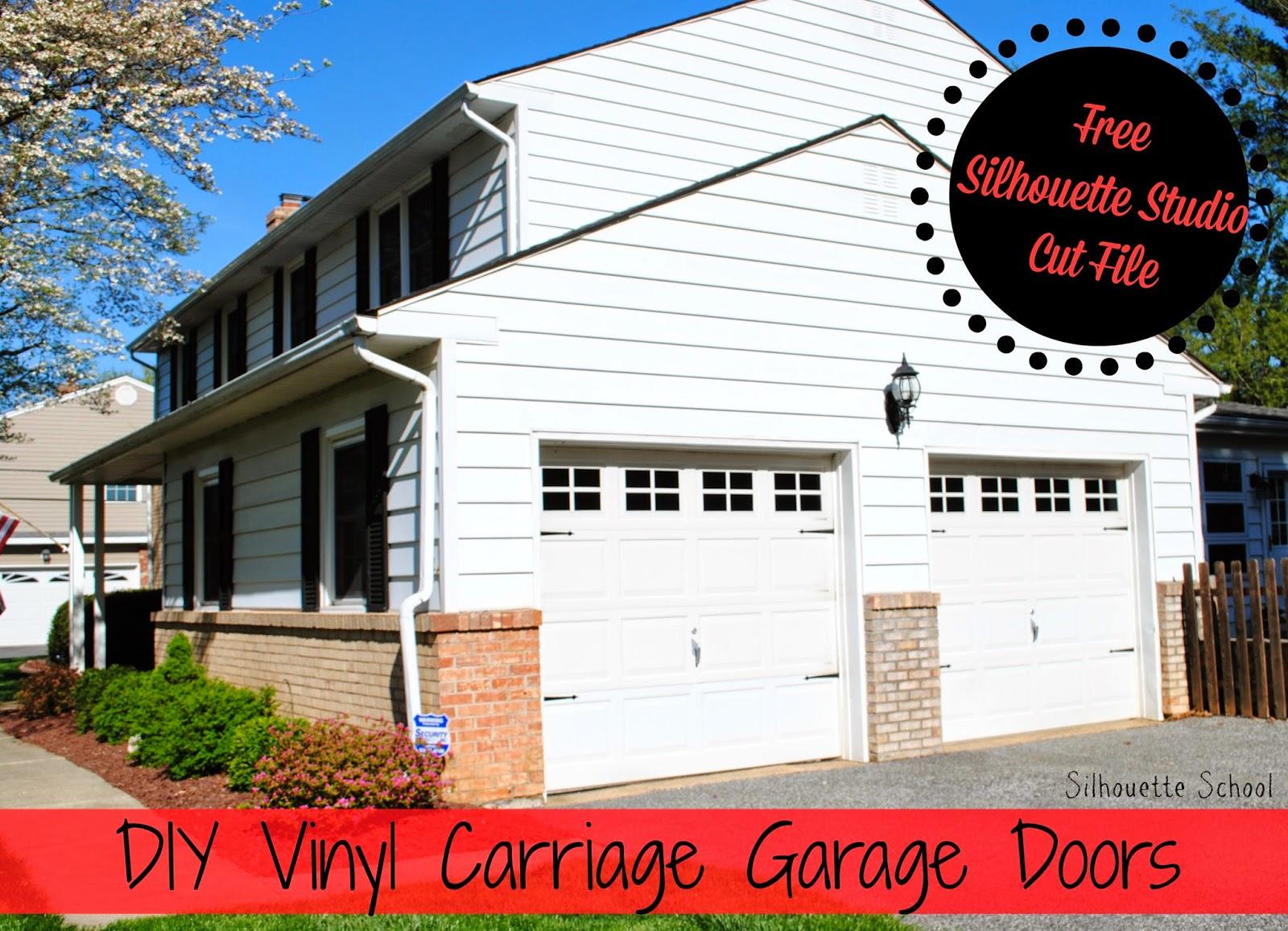 Diy vinyl faux carriage garage doors free studio file giveaway vinyl faux carriage garage doors diy do it yourself free solutioingenieria Image collections