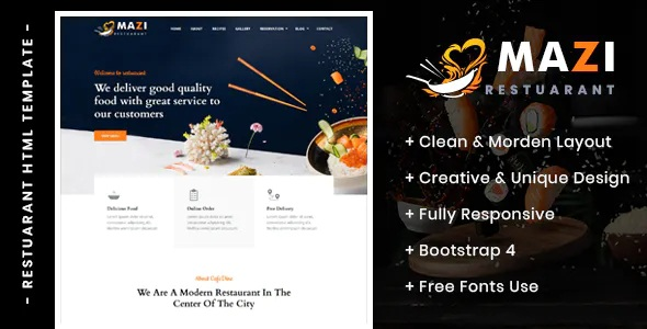 Best Fast Food & Restaurant HTML Template
