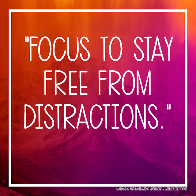 Lord, give my students focus to stay free from distractions.