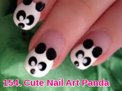 Cute Nail Art Panda