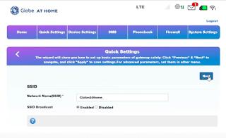 Globe at Home Prepaid WiFi Name