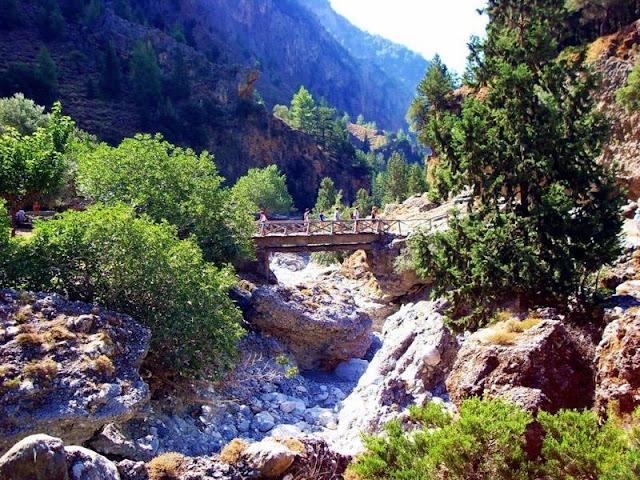Passeio em Samaria Gorge, Creta