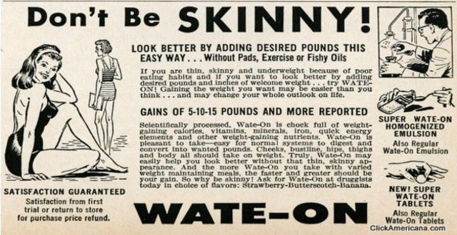 Curiosos anuncios antiguos para ganar peso
