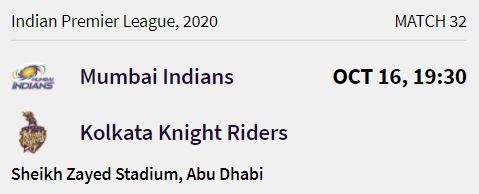 Mumbai Indians match 8 ipl 2020