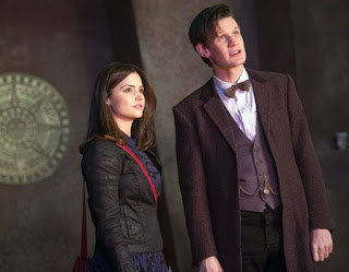 Clara (Jenna Coleman) and The Doctor (Matt Smith) - photo from denofgeek.com