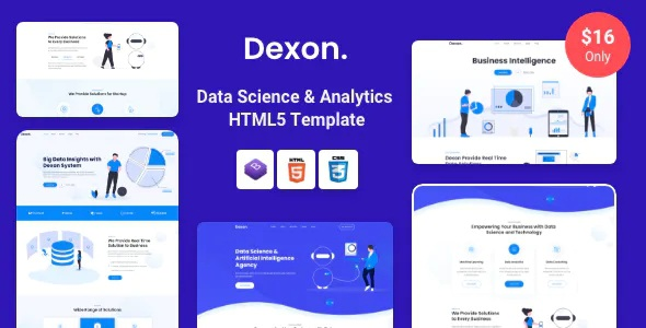 Best Data Science and Analytics HTML Template
