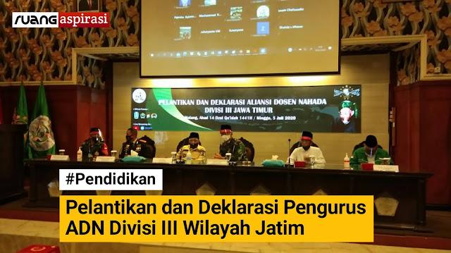 Pengurus ADN Divisi III Wilayah Jatim Resmi Dilantik dan Siap Menjaga NKRI