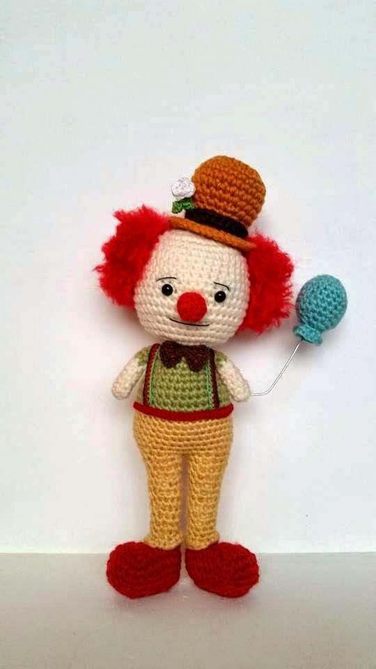Häkelblog - Täglich neue Anleitungen: Clown -Häkelanleitung
