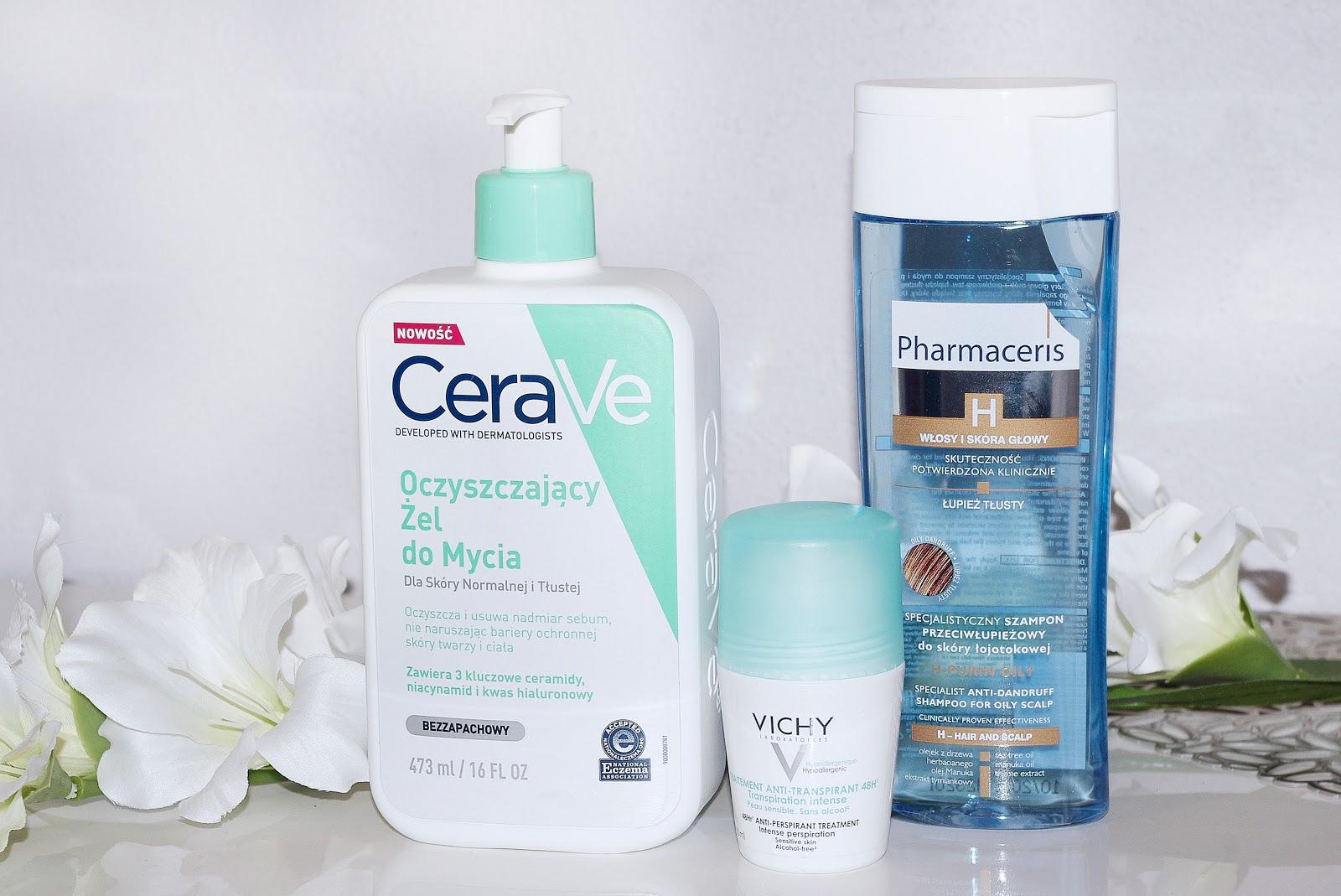 cerave żel do mycia pharmaceris szampon łupież tłusty vichy antyperspirant