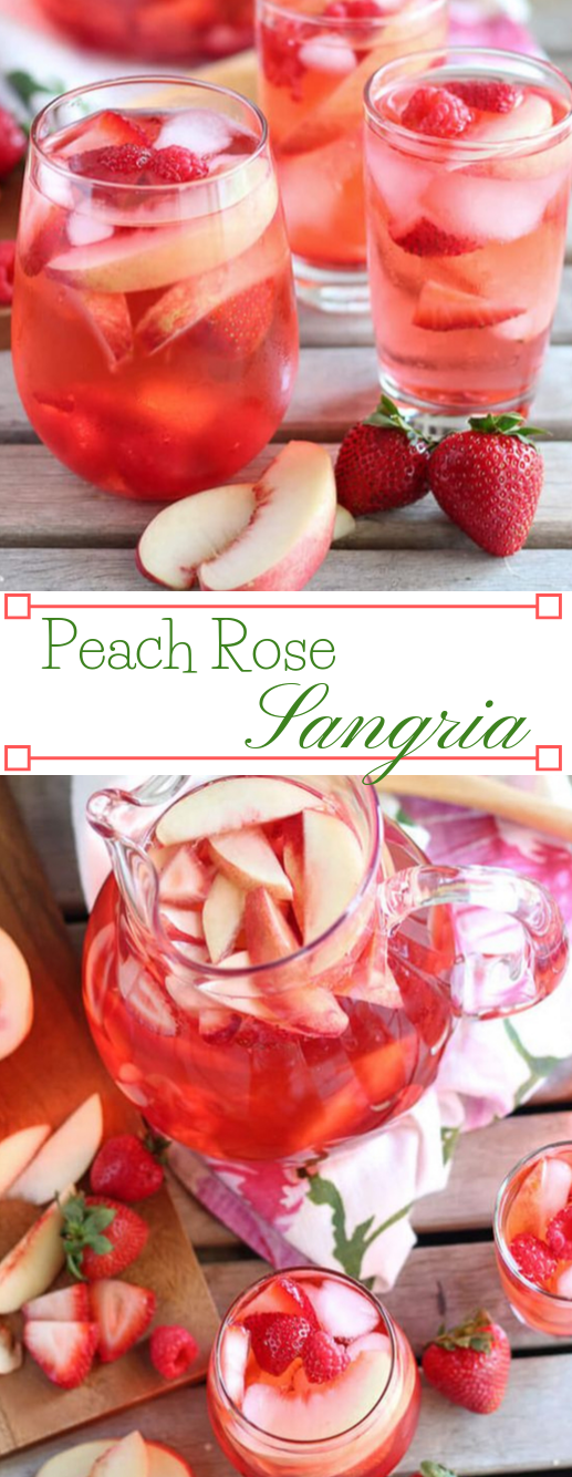 PEACH ROSÉ SANGRIA  #drink #sangria #peach #smoothie #summer