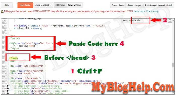 How to Insert Custom CSS Codes into Blogger Blog Theme