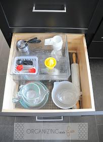 Organized baking drawer :: OrganizingMadeFun.com