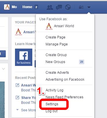 Facebook Setting www.ansariworld.com