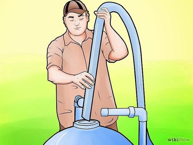 """Cara mengganti tangki filter pasir  di kolam renang """"gambar 2"""""""