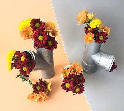 Vasos com materias reciclados