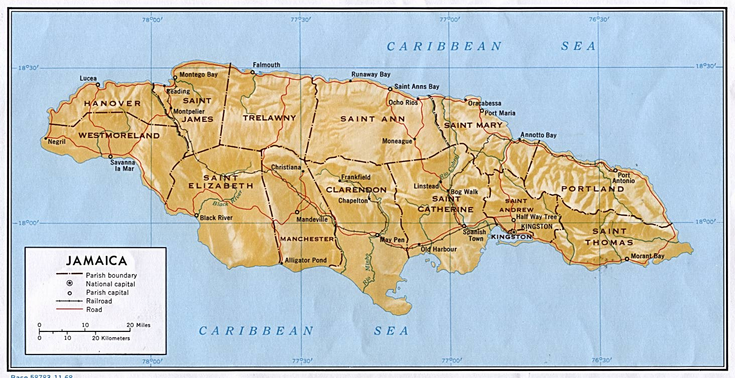 Jamaica | Mapas Geográficos da Jamaica