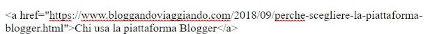 esempio codice hmtl link