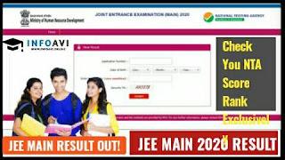 JEE main result 2020, Jee main result,