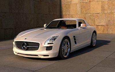 Mercedes SLS AMG - Fond d'écran en Full HD 1080p