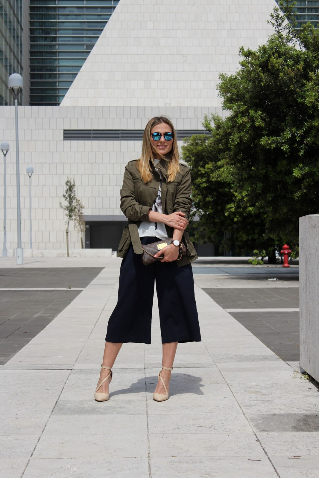 Eniwhere Fashion - Culottes and Military Jacket