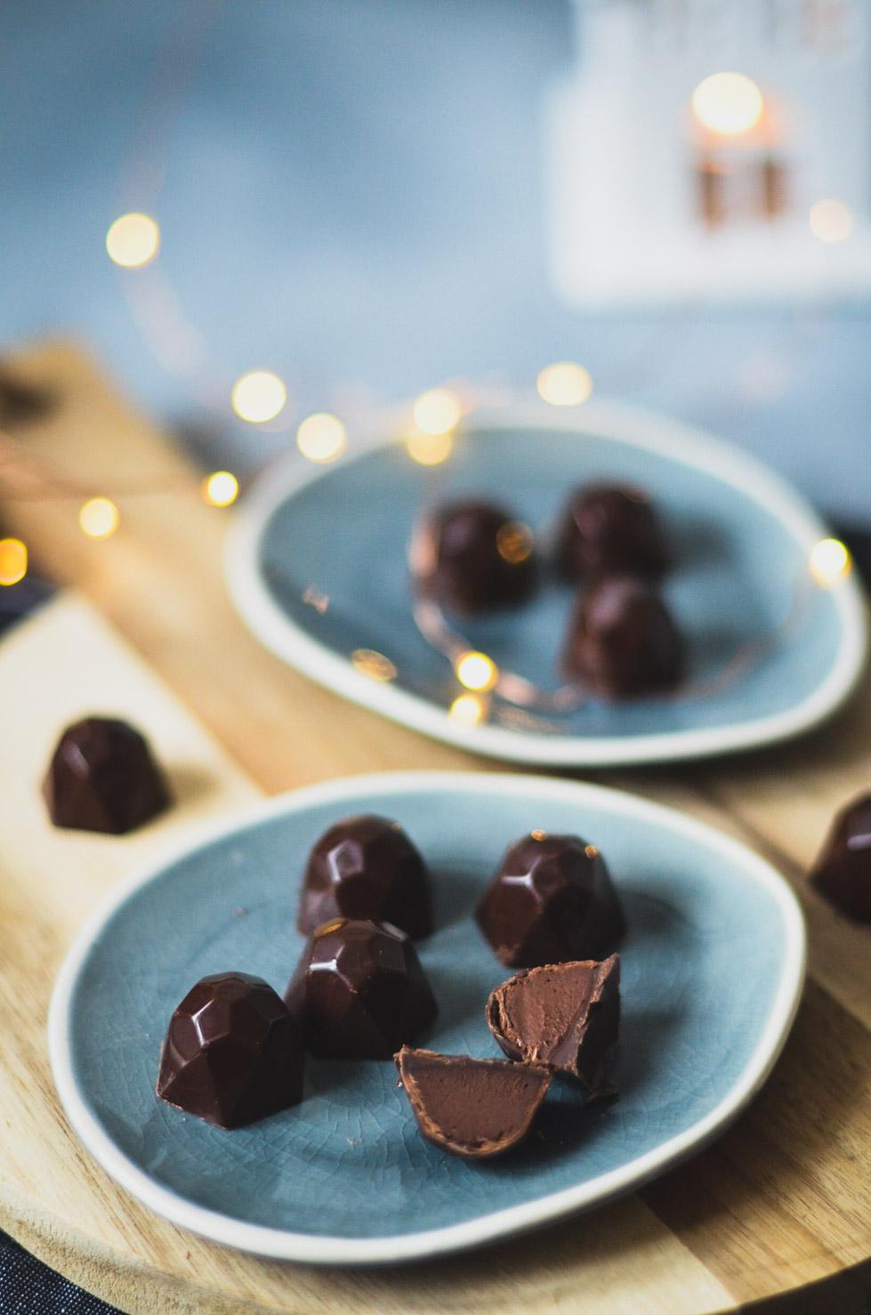 bonbons chocolat framboise