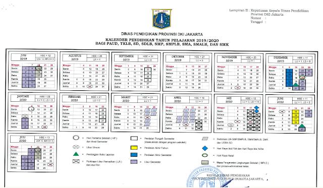 Download KALDIK DKI Jakarta Tahun Pelajaran 2019/2020 SD, SDLB, SMP, SMPLB, SMA, SMALB dan SMK