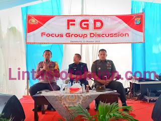 Jelang Pelantikan Presiden dan Wakil Presiden Terpilih Polres Tulang Bawang Gelar FGD