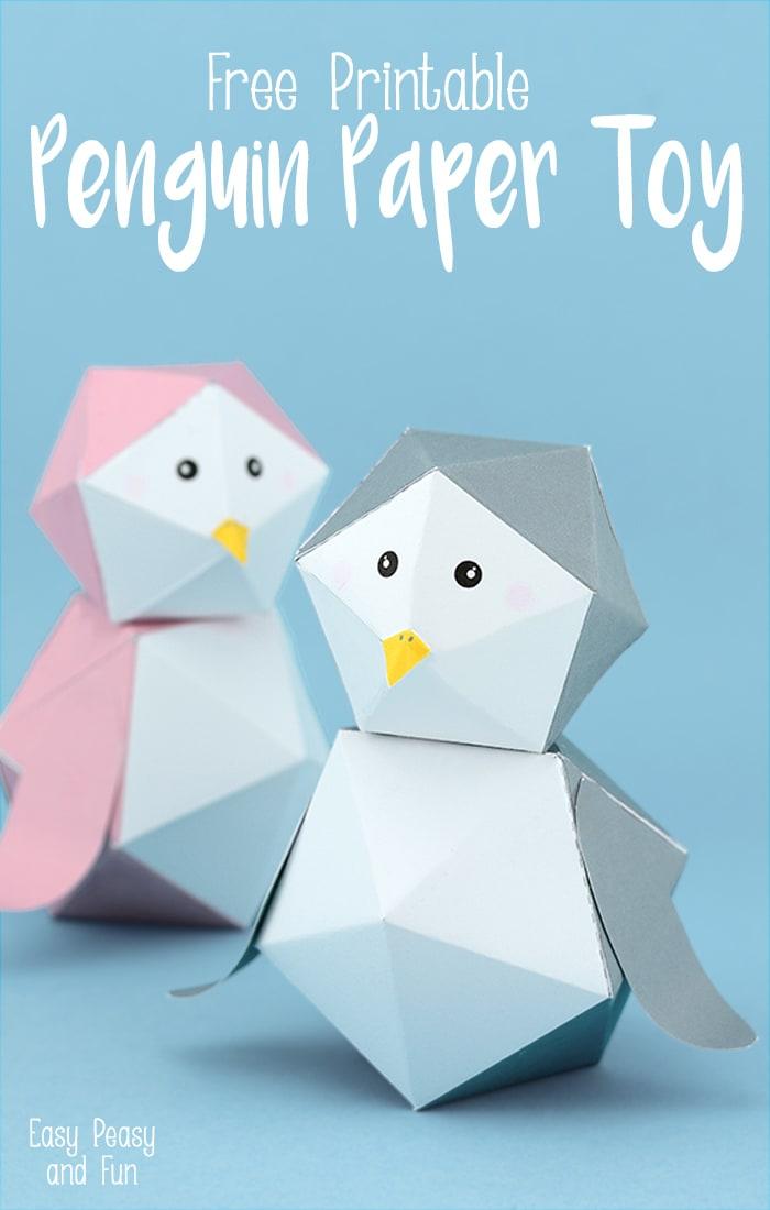 Ninjatoes 39 papercraft weblog cute papercraft penguins for Cute paper crafts