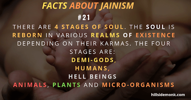 Jainism Beliefs The soul is reborn in various realms of existence depending on their karmas.