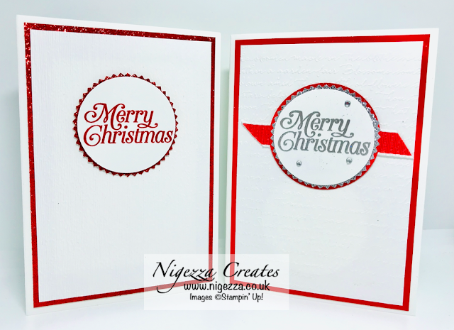 Nigezza Creates with Stampin' Up! for InsoireINK Blog Hop, Simple Christmas card