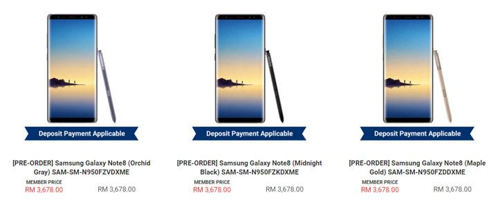 Samsung Note 8 Dari Sen Heng