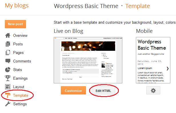 Add a slider to blogger blogger tips pro for Template for blogger html code
