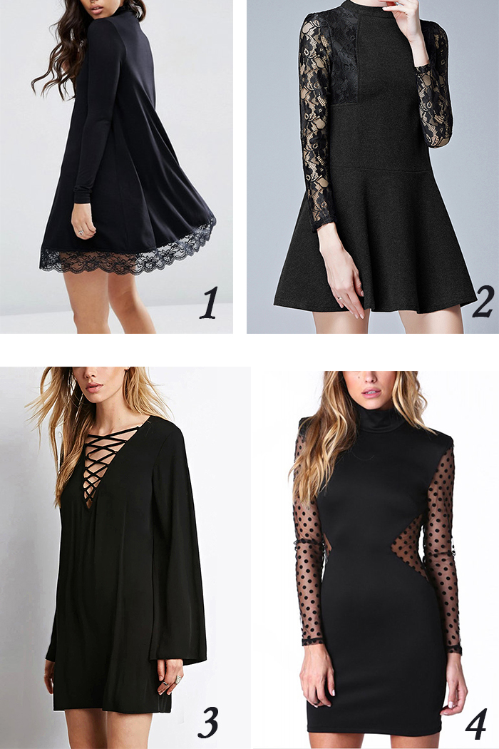 little black dress yoins, lace, black , dots , clothes