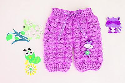 5 -Majovel crochet Pantalones crochet a juego con la chambrita a relieve