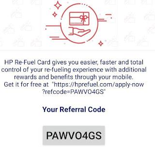 hp refuel app referral code hindi