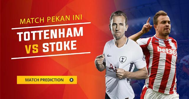 Tottenham Hotspur akan membidik poin penuh ketika menjamu Stoke City di berkelahi lanjutan Liga  Berita Terhangat Prediksi Bola : Tottenham Hotspur vs Stoke City , Sabtu 09 Desember 2017 Pukul 22.00 WIB