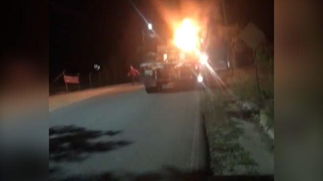 hoyennoticia.com, Policía investiga incineración de tracto camión en Paraguachón.
