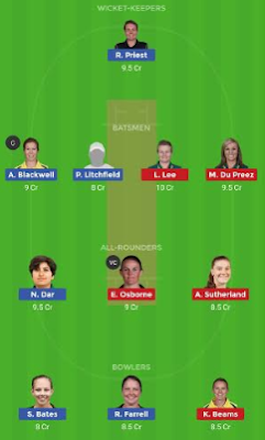 MS-W vs ST-W dream11 team | ST-W vs MS-W