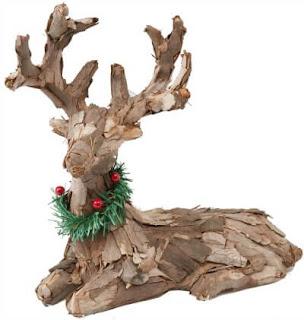 rustic bark reindeer