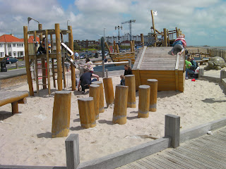 goring by sea seafront wooden playpark