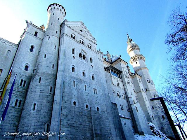 Sleeping Beauty's castle Bavaria Alps Germany