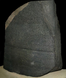 ricerca sul ritrovamento della stele di Rosetta e del suo contenuto