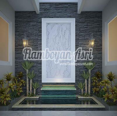 Jasa Tukang taman Surabaya Desain gambar Kolam minimalis