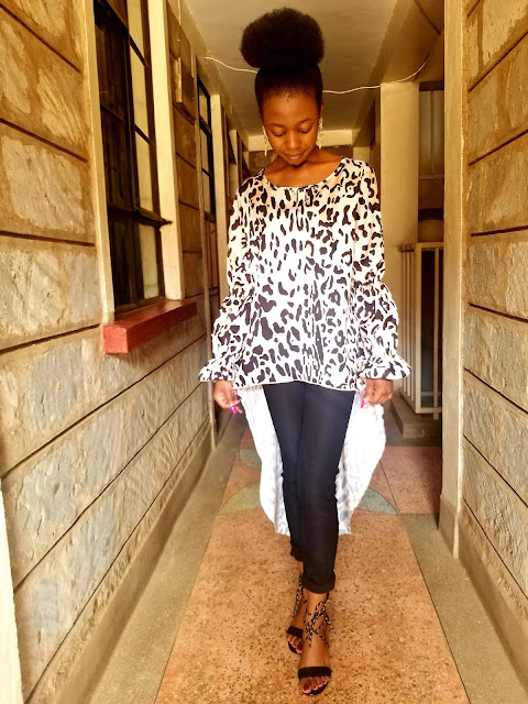 How To Wear The Leopard Print Trend : Asymmetrical Top