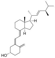 Χημική δομή βιταμίνης D.