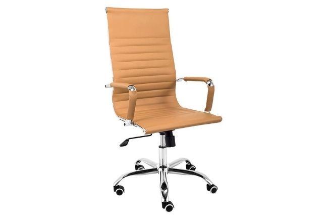 Cadeira Boston Giratória Regulagem de Altura Esteirinha Caramelo