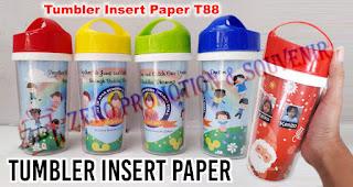 Tumbler Insert Paper merupakan salah satu souvenir yang bisa dicetak dengan cepat